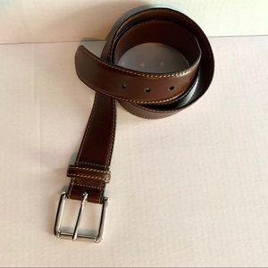 Barneys New York Belt Brown Leather Sz 40